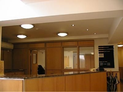 Reception and back-office lighting, controls and emergency systems